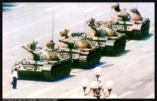 Tank Man, photo by Jeff Widener / AP
