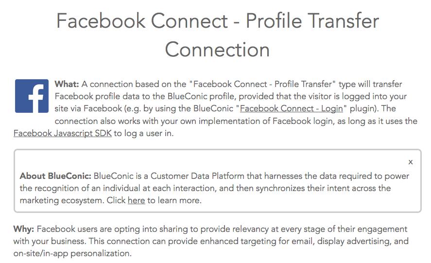 Blueconic's profile transfer service terms.
